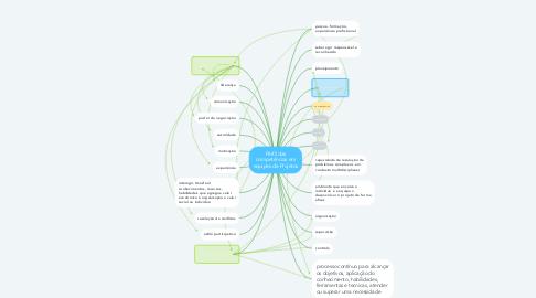 Mind Map: Perfil das competências em equipes de Projetos