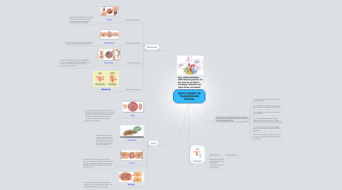 Mind Map: INFECCIONES DE TRANSMISION SEXUAL