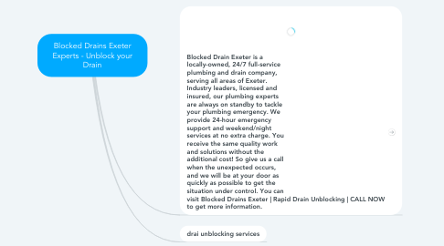 Mind Map: Blocked Drains Exeter Experts - Unblock your Drain