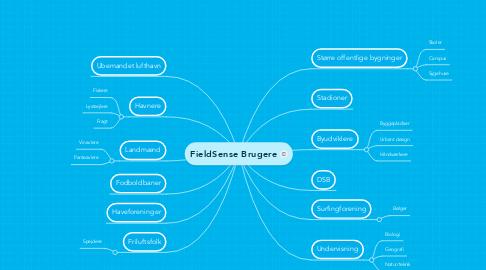 Mind Map: FieldSense Brugere