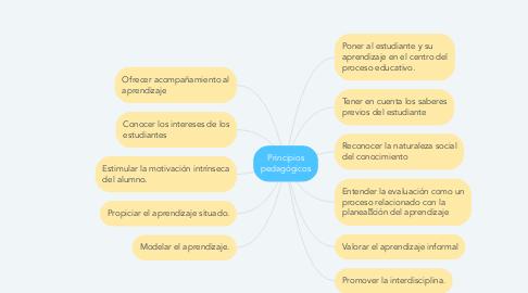 Mind Map: Principios pedagógicos