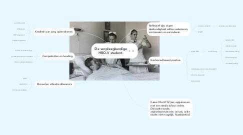 Mind Map: De verpleegkundige HBO-V student.