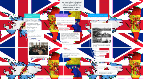 """Mind Map: the historical and educational aspects of the Anglophone countries (United States and England) of the xx century contrasted with today """""""