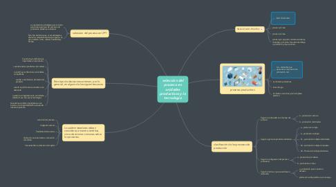 Mind Map: selección del proceso en unidades productivas y la tecnología