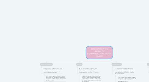 Mind Map: LOS CONCEPTOS JURIDICOS FUNDAMENTALES SEGUN KELSEN.