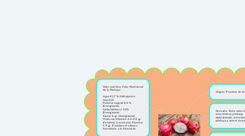Mind Map: La Pitahaya