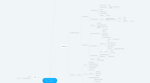 Mind Map: Videos for Website and Boots and Bling
