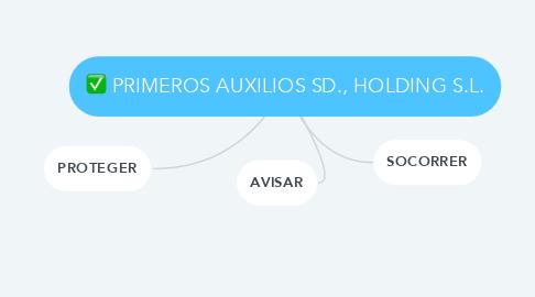 Mind Map: PRIMEROS AUXILIOS SD., HOLDING S.L.