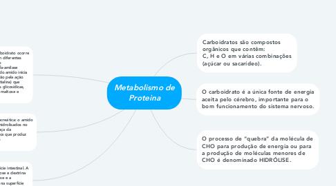 Mind Map: Metabolismo de Proteina