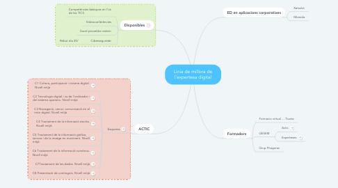 Mind Map: Linia de millora de l'expertesa digital