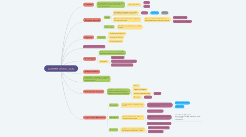 Mind Map: AUTOPSIA MÉDICO LEGAL
