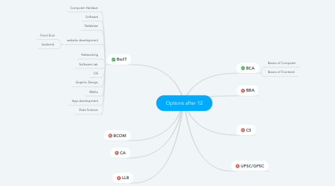 Mind Map: Options after 12