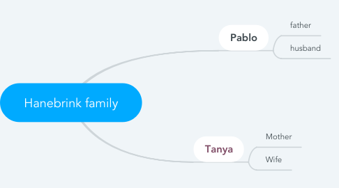 Mind Map: Hanebrink family