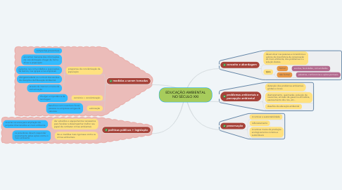 Mind Map: EDUCAÇÃO AMBIENTAL NO SÉCULO XXI