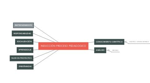 Mind Map: INDUCCIÓN PROCESO PEDAGOGICO