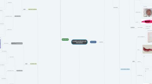 Mind Map: CLASIFICACIÓN DE LOS PARÁSITOS