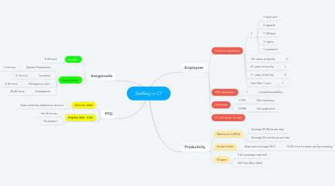 Mind Map: Staffing in CT