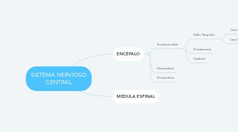 Mind Map: SISTEMA NERVIOSO CENTRAL