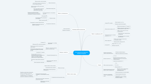 Mind Map: Что я делала на практике Альбина Радаева