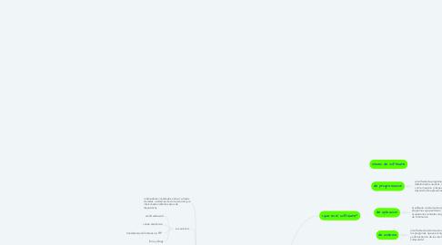 Mind Map: software y servicios de internet
