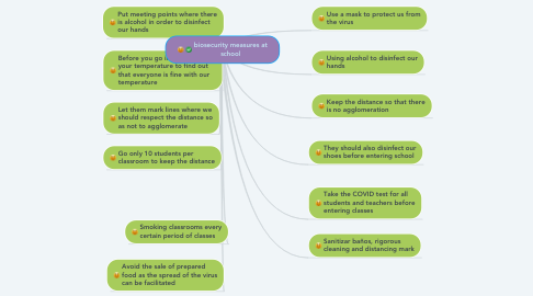 Mind Map: biosecurity measures at school