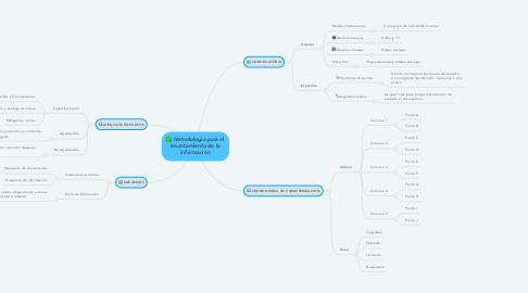 Mind Map: Metodología para el levantamiento de la información