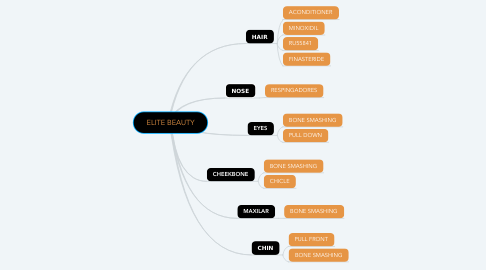 Mind Map: ELITE BEAUTY