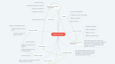 Mind Map: Saúde e Harmonia
