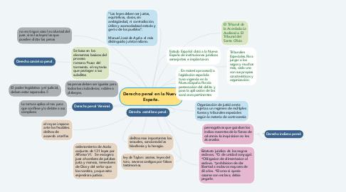 Mind Map: Derecho penal en la Nueva España.