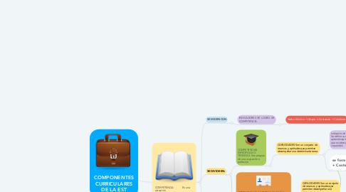 Mind Map: COMPONENTES CURRICULARES DE LA EST