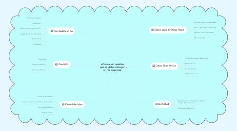 Mind Map: Información sensible que se debe proteger en las empresas