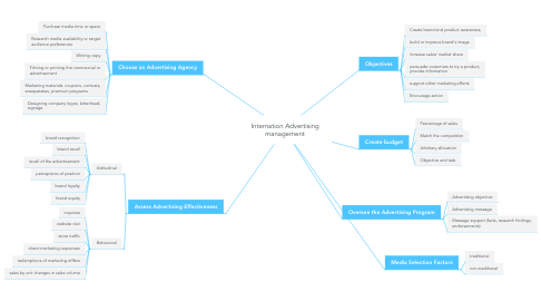 Mind Map: Internation Advertising management