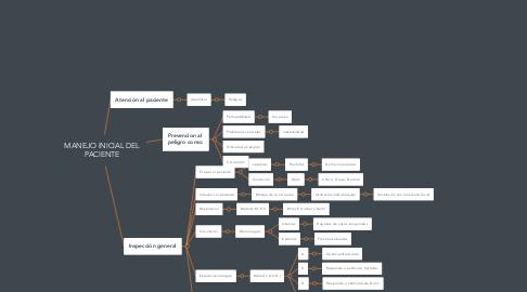 Mind Map: MANEJO INICIAL DEL PACIENTE