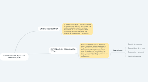 Mind Map: FASES DEL PROCESO DE INTEGRACIÓN