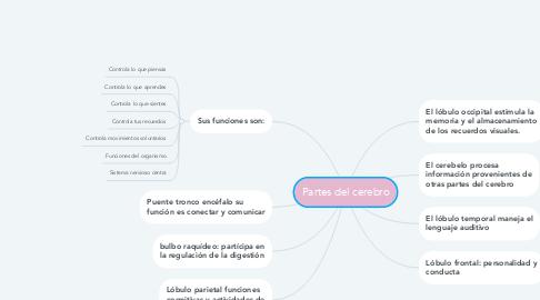 Mind Map: Partes del cerebro