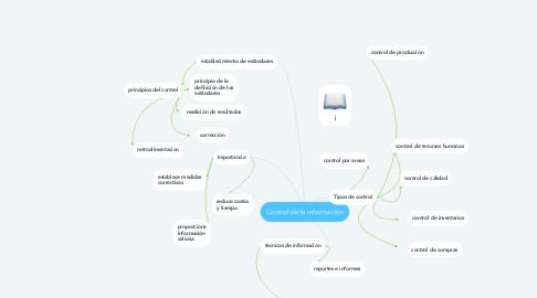Mind Map: Control de la información