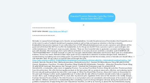 Mind Map: Dianabol Proviron Nolvadex Cycle Buy Online Steroid Sales #VOOTVn