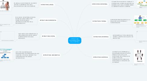 Mind Map: ESTRUCTURA ORGANIZAICONAL DE LA EMPRESA