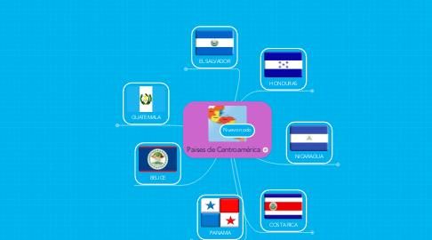 Mind Map: Paises de Centroamérica