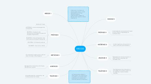 Mind Map: MEIOSE