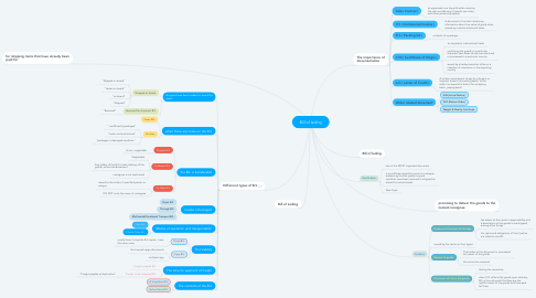 Mind Map: Bill of lading