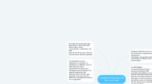 Mind Map: CAMBIOS FISIOLÓGICOS EN LA ALTURA