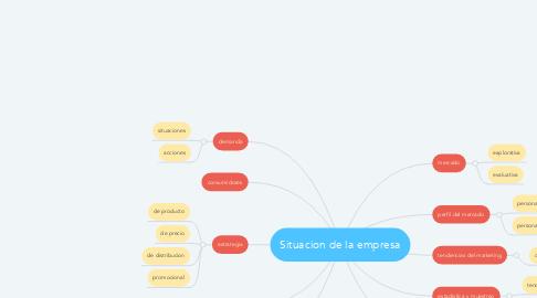 Mind Map: Situacion de la empresa