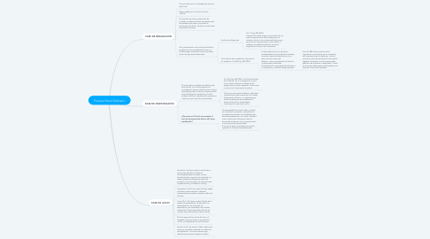 Mind Map: Proceso Penal Ordinario