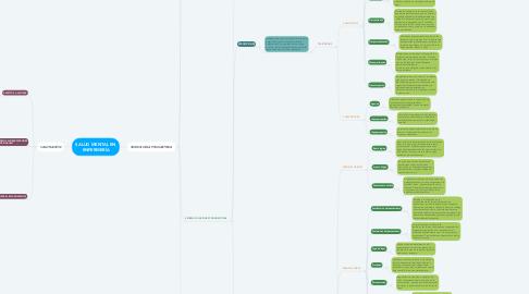 Mind Map: SALUD MENTAL EN ENFERMERÍA