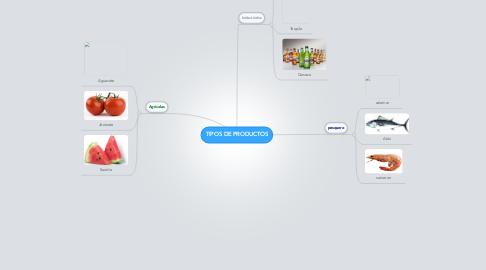 Mind Map: TIPOS DE PRODUCTOS