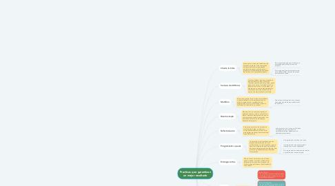 Mind Map: Practicas que garantizan un mejor resultado