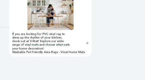 Mind Map: PVC Vinyl Rug