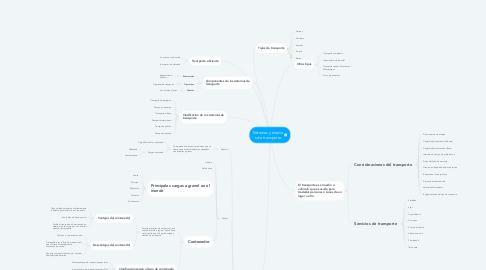 Mind Map: Sistemas y medio s de transporte