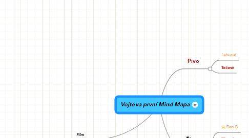 Mind Map: Vojtova první Mind Mapa